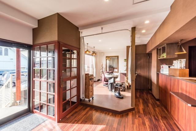 喫茶店を美容室にリノベーション