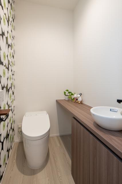 マリメッコが可愛いトイレ空間