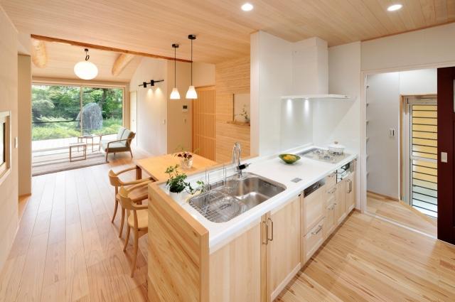 木のぬくもり溢れるダイニングキッチン