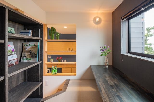 隠れ家的な書斎スペース