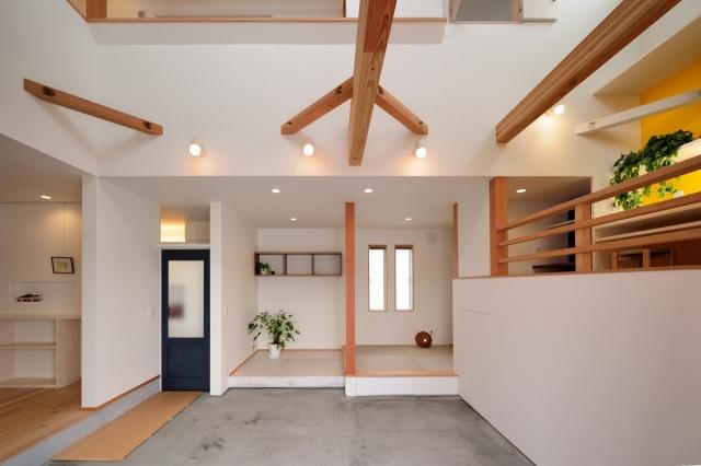 土間リビング・和室・ピアノスペース
