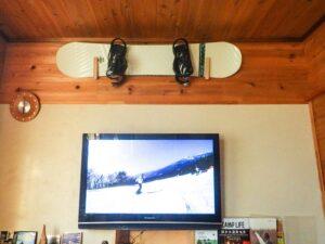 スノーボードの見せる収納