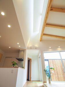 斜め天井から光を落とすハイサイドライト