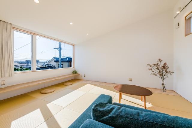 眺めの良い畳の2階リビング