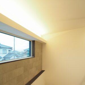 灯りをデザインした寝室ベッドルーム