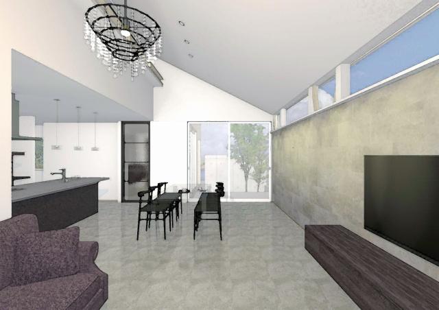 Simple Modern HouseのLDK