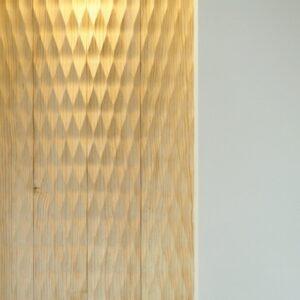 スプーンカットの壁材を和室に使用
