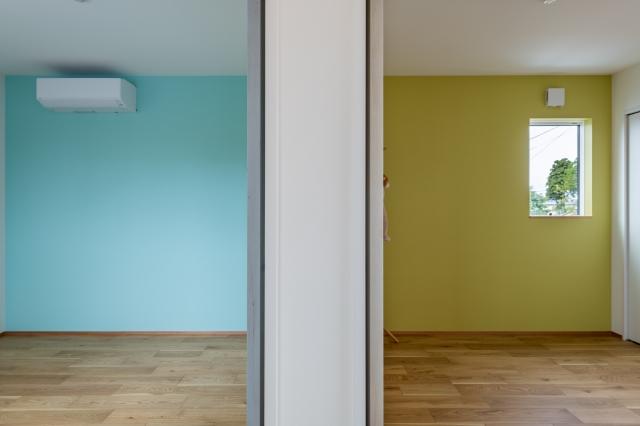 アクセントクロスの子供部屋