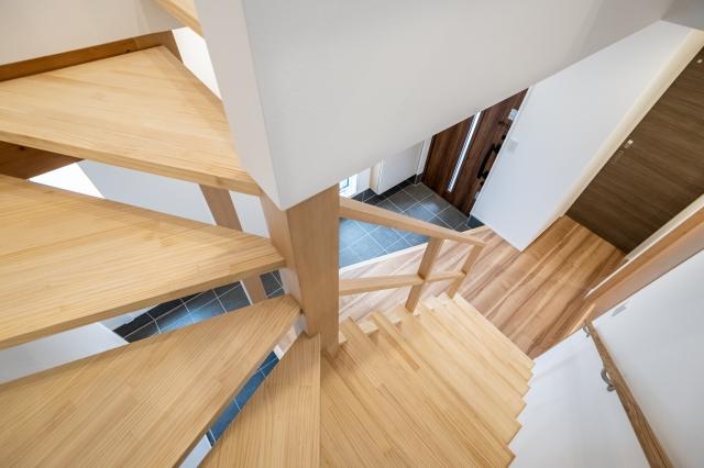 ストリップ階段を上から見下ろす